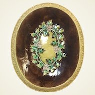 French Majolica Bread Platter 13.5""