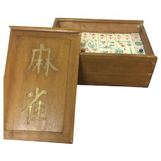 Bamboo & Bone Tile Mahjong Set 152 Tile