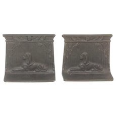 Antique Egyptian Sphinx Bookends by Bradley Hubbard