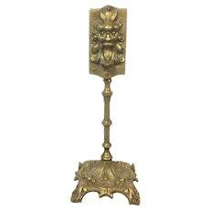 Victorian Cast Brass Gothic Match Safe