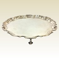 Tiffany & Co. George V Sterling Footed Tray Salver