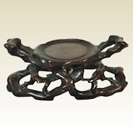 Stunning Chinese Carved Stand for Libation Cup - Jade Carving - Vase -