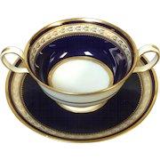 Copeland Spode Bouillon Cup Cobalt Blue Gold Decoration R3617 (6 available)