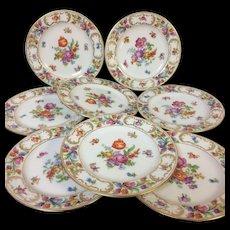 """Set of 8 Dresden Schumann Bavaria Bread Butter Plate 6.25"""""""