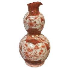19th Century Japanese Kutani Porcelain Pouring Double Gourd Bottle Vase