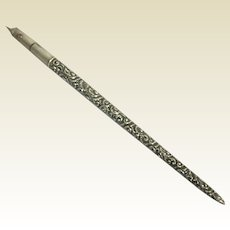 Tiffany & Co.  Art Nouveau Sterling Fountain Dip Pen