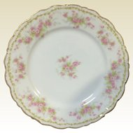 "Set of 12 Elite Works Limoges Plates 8.75"" Primrose Flower Gild Gold Rim"