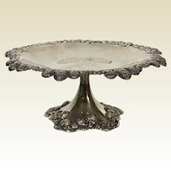 Tiffany & Co. Clover Pattern Sterling Silver Tazza Footed Pedestal Dish