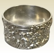 Frank Whiting Co. Art Nouveau Sterling Napkin Ring