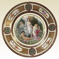Fine German Porcelain Royal Schwarzburg Plate W/ Roman Goddess Decoration #1