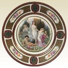 Fine German Porcelain Royal Schwarzburg Plate W/ Roman Goddess Decoration #3