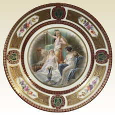 Fine German Porcelain Royal Schwarzburg Plate W/ Roman Goddess Decoration #4