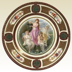 Fine German Porcelain Royal Schwarzburg Plate W/ Roman Goddess Decoration #5