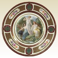 Fine German Porcelain Royal Schwarzburg Plate W/ Roman Goddess Decoration #6