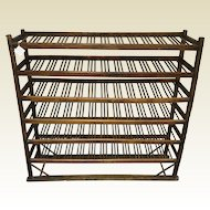 Antique Oak Baker Rack