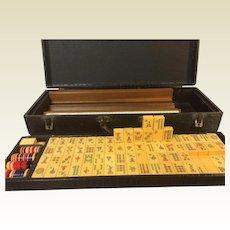 144+2 Tiles Bakelite Mah Jong Set 1920's