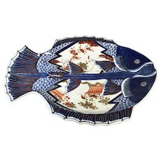 Large Japanese Porcelain Imari Fish Platter