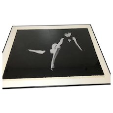 Milton Greene Serigraph Singed Artist Proof 3rd Black Seating of Marilyn Monroe