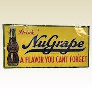 1920's Nugrape Soda Pop Metal Store Advertising Sign -robertson Steel Co