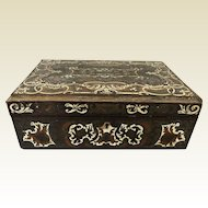 Beautiful 19th Century Inlaid Valuable Trinket Box