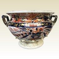 Exceptional Antique English Porcelain Tureen Bowl Imari Gaudy Welsh Tureen