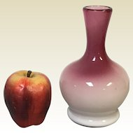 "7"" Peachblow Vase Polished Pontil"
