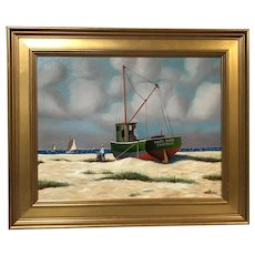Jerome Howes Painting of the Trawler Mary Anne
