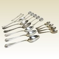 17 Pieces of Gorham Sterling Old French Flatware Dinner, Soup, Teaspoon