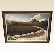 Paul Murray Original Pastel Titled Ventara Chaco Culture National Historical Park