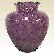 "Steuben Cluthra Vase 8.25"" In Purple Amethyst"
