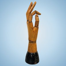 Antique Articulated Wooden Artist's Model Hand Mannequin