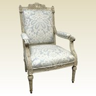 19th Century Louis the XVI Bergeres Chair W/ Old Gilt