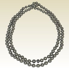 "41"" Tahitian South Sea Black Gray Pearls 8mm Strand 110 Pearls"
