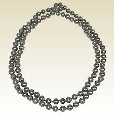 "41"" Tahitian South Sea Black Gray Pearls 8mm Strand 110 Pearls"