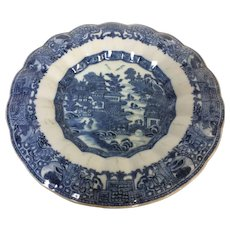 Unusual Form 19th Century Chinese Porcelain Canton Plate