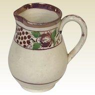Rare Circa 1830's English Pearl wear Pink Luster Ware Miniature Creamer