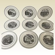 Set of 16 Wedgwood MIT Massachusetts Institute of Technology Plates