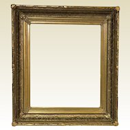 "Antique Gold Gessoed Frame for a 17.5"" by 20.5"" Art"