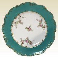 """Set of 17 Old Paris Porcelain 8.75"""" Luncheon Plates"""