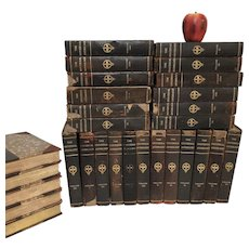 29 Vol Antique Leather Bound The Universal Anthology 1899 Limited Edition