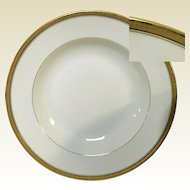 White Porcelain with Gold Band Rimmed Limoges Soup Bowl (11 available)