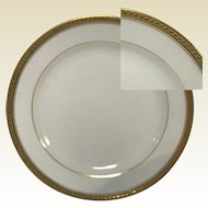 "Set of 6 Limoges Porcelain Bread Plate 6.25"" Gold Banded Haviland"