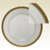 """Set of 4 Limoges Porcelain Bread Plate 6.25"""" Gold Banded"""
