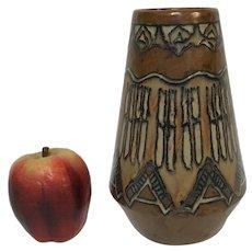 "8.25"" Quimper Odetta Art Pottery Arts & Craft Vase"