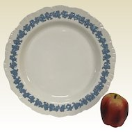 "Wedgwood 12.5"" Pale Blue Grape on Cream Round Platter"