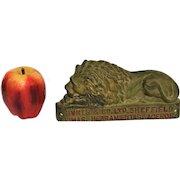 19th Century Burys & Co. Ltd Advertising Cast Metal Lion Plaque Advertising (Tool Manufacturer)