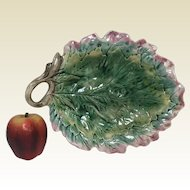 """Large Etruscan Majolica Leaf Bread Tray 12"""""""