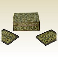 Beautiful Chinese Cloisonne Valuable Trinket Box with 2 Tray  With Unusual Decoration