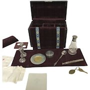 Sterling Silver  Communion Travel Kit With Carrying Case
