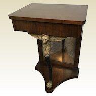 English Mahogany Duncan Phyfe Pier Side Table W/ Single Drawer
